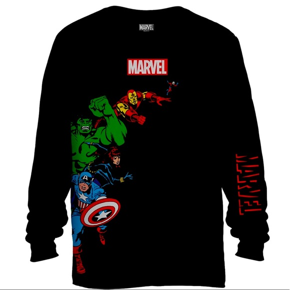 NWT Marvel Character Long Sleeve Inv A2371